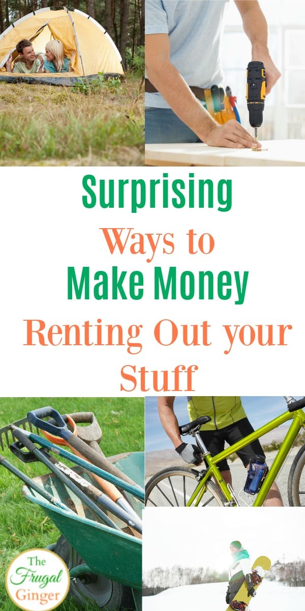 Some surprising ideas for how to make extra money renting out things you already own! A great way to make some extra cash fast and make money from home!