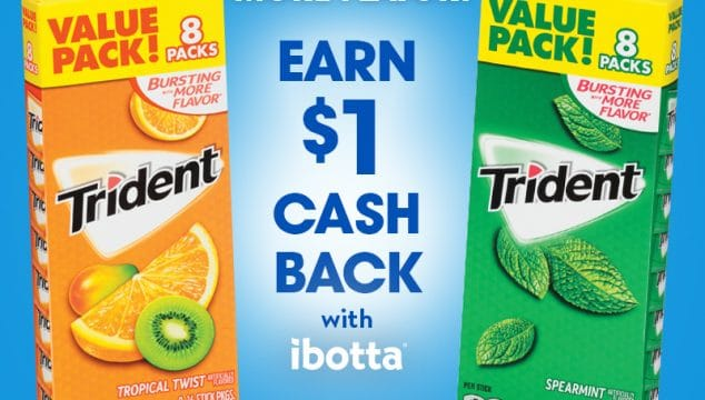 Stock up on Trident Sugar Free Gum with this Deal