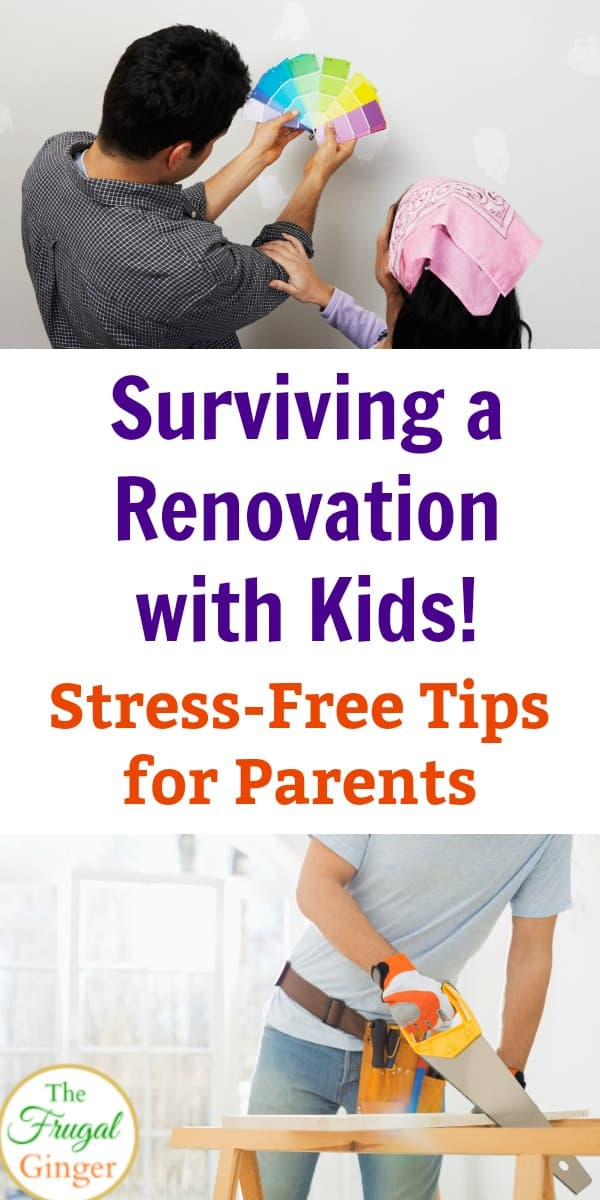 Surviving a renovation has never been easier. These stress free renovation ideas are a must have for any parent! Use these easy and simple tips to make remodeling your home a hassle free event for everyone in your family, especially the kids!