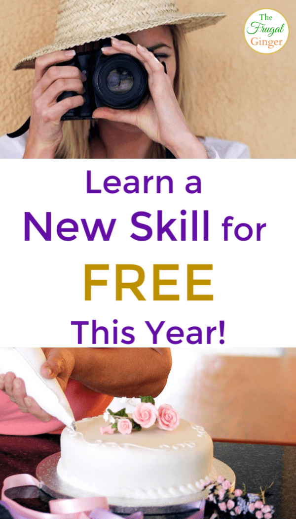 Learn a new skill for free this year. A fun way to expand your skills, stick to a New Year's resolution, and maybe even make more money. All can be done online!