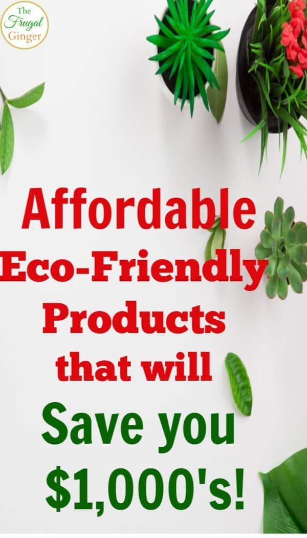 These are the best affordable eco-friendly products that will save you money. Simple tips and ideas to go green and keep money in your wallet.
