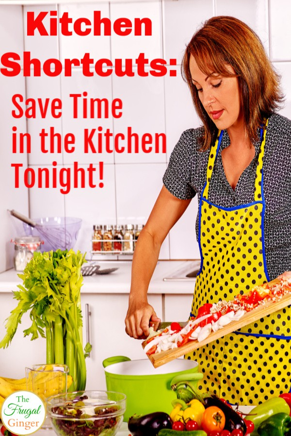 These kitchen shortcuts are simple life changing ways to spend less time cooking. Awesome timesaving tips and tricks to get dinner on the table faster and save money at the same time.