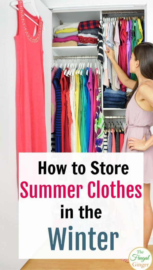 Keep your clothes looking great with these tips on how to store summer clothes in the winter. Great solutions for small spaces. Seasonal clothing storage hacks and ideas for easy organization.