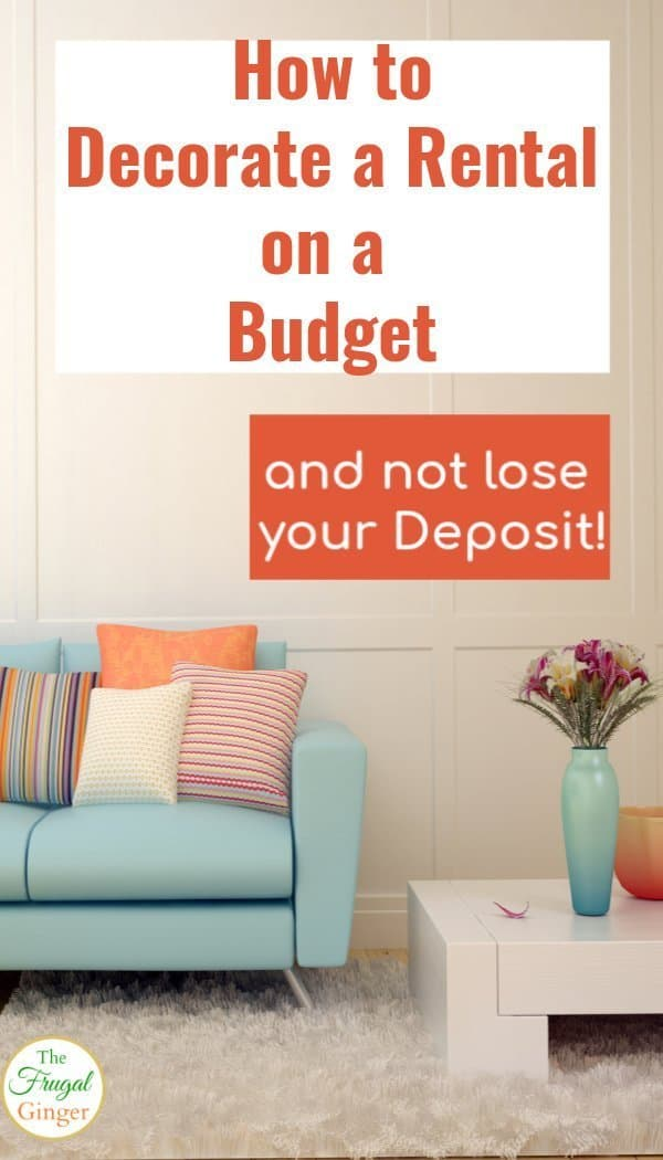Use these tips and tricks to decorate a rental on a budget and still get back your deposit! Great affordable updates for a rental house or apartment.