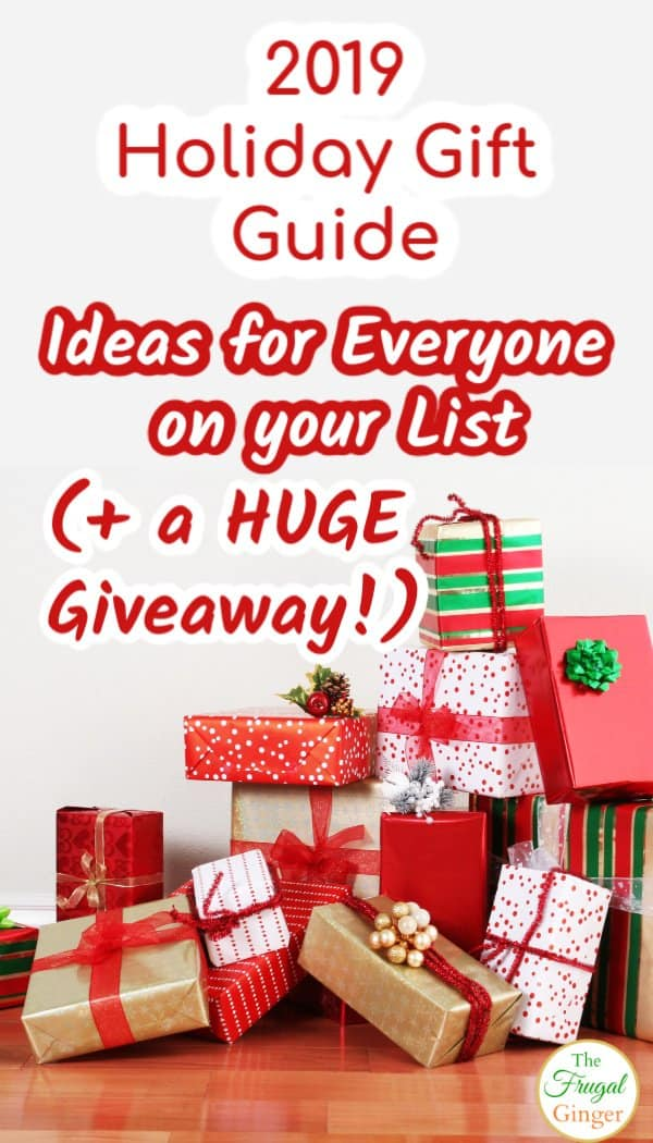 Check out The Frugal Ginger's 2019 Holiday gift guide full of Christmas gift ideas for kids, for her, for him, and for the home. You will find something for everyone on your list. Plus, enter to win a HUGE gift guide giveaway bundle!